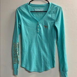Victoria's Secret PINK flannel sleep shirt size S